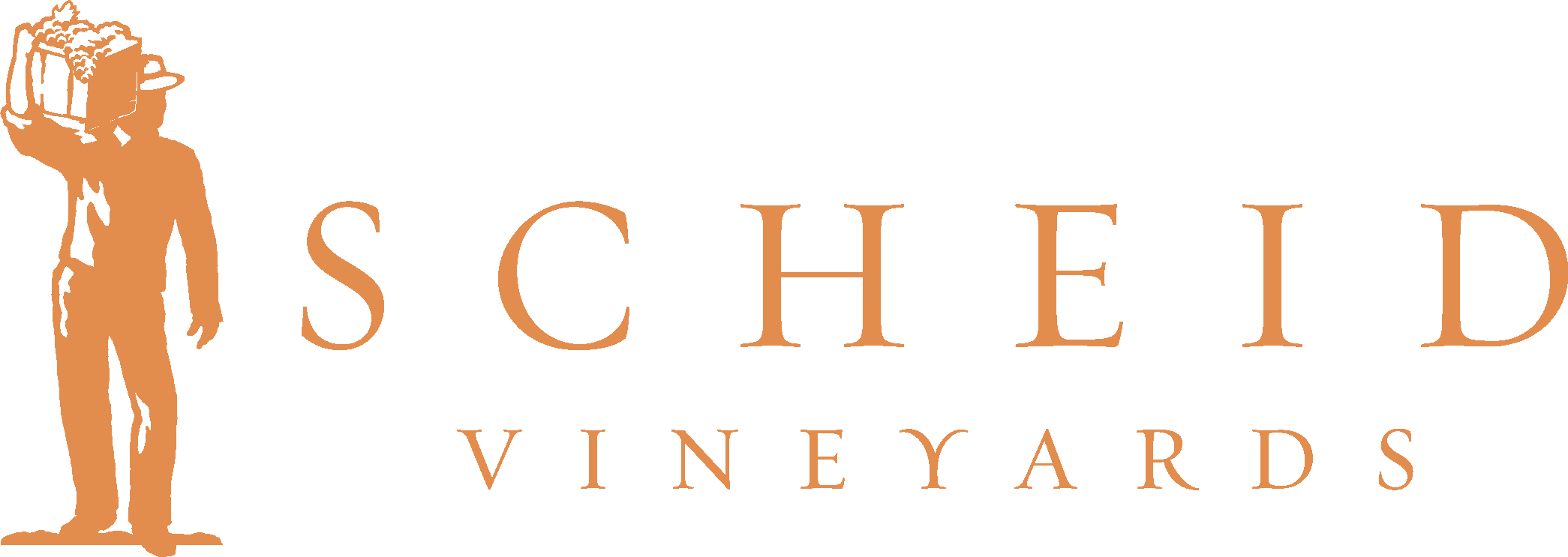 Scheid Vineyards logo in gold